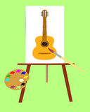 The Picture with music instrument. Royalty Free Stock Image