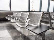 A picture of new benches at the airport Stock Photography