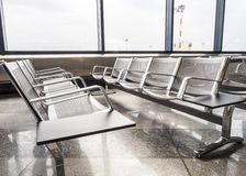A picture of new benches at the airport Royalty Free Stock Image
