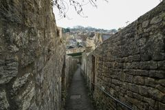 Nice old town Bradford on Avon in United Kingdom. A picture from the nice old town Bradford on Avon in United Kingdom. You can see the houses, streets, footpaths royalty free stock photo