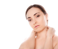 Picture of a nude woman looking to the camera Royalty Free Stock Photo
