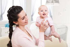 Picture Of Baby With Mother Royalty Free Stock Photo