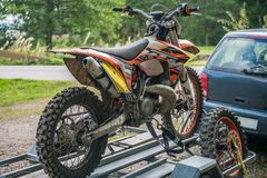 Free Picture Of Sport Bike On The Car Trailer Royalty Free Stock Photo - 101503025