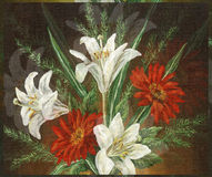 Picture Oil Painting, Bouquet Flowers Stock Images