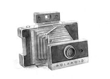 Picture old camera Stock Image
