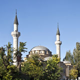 Old mosque with minarets Royalty Free Stock Images