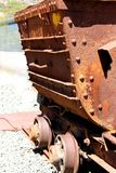 Old rusty mine cart Royalty Free Stock Photo