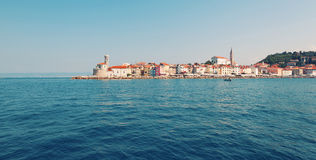 Picture of old sea town Piran Royalty Free Stock Image