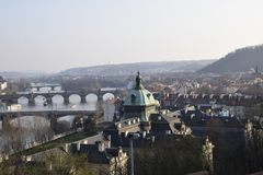 Picture of old town Prague ful  of bridges Royalty Free Stock Images
