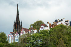 Picture of old town with Saint Giles Cathedral in background Stock Photos