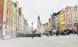 Picture of the old town in Wroclaw in Poland Stock Photography