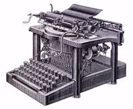 Picture of an old typewriter Royalty Free Stock Image