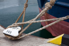 Picture of an Old Vintage Naval Rope. Picture of many an Old Vintage Naval Rope Stock Photography