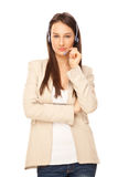 Picture of operator of call center Royalty Free Stock Photo