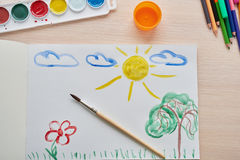 Picture painted colors stock images