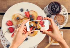 Picture of pancakes Royalty Free Stock Photos