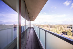 Picture of panoramic balcony Royalty Free Stock Photography