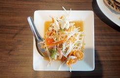 Papaya Salad. The Picture of papaya salad in thai style Stock Photography
