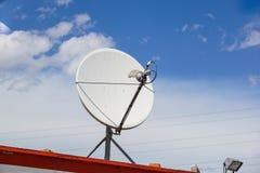 Picture of parabolic satellite antenna dish space technology receivers. Picture of parabolic satellite dish space technology receivers Royalty Free Stock Photos