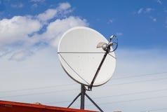 Picture of parabolic satellite antenna dish space technology receivers. Picture of parabolic satellite dish space technology receivers Stock Images