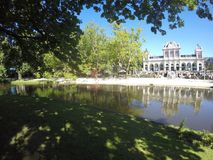 Beautiful park in Amsterdam city Royalty Free Stock Images