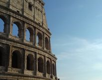 Colosseum. A picture of a part of the Colosseum taken in the evening at a vacation at Rome Stock Photography