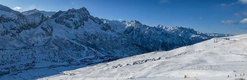 Passo Tonale ski area Royalty Free Stock Photo