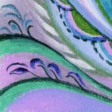 Picture, pastel, abstract Royalty Free Stock Images