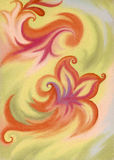 Picture, pastel, abstract. Abstract artistic background. Picture, pastel, hand-draw, painting on paper Stock Images