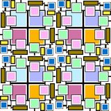 Exclusive mosaic pattern lines and boxes vector illustration