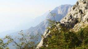 Profile Picture of a Peak within the Biokovo Mountains in Makarska, Croatia royalty free stock photography