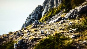 Profile Picture of a Peak within the Biokovo Mountains in Makarska, Croatia royalty free stock images