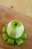 Peeled apple Royalty Free Stock Image