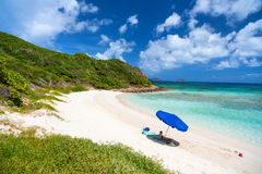Picture perfect beach at Caribbean Stock Photos