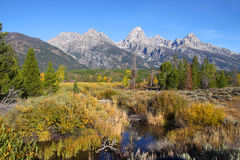 Picture perfect Grand Tetons Stock Photography