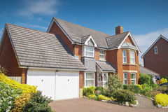 Picture perfect houses on newly built estate Stock Images