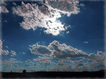Picture Perfect skies. Gorgeous clouds sky white silver blue natural simple radiant magical Royalty Free Stock Photo