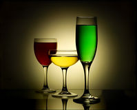 A picture of perfect stemware Stock Photos