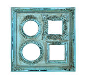 Picture photo frame antique of blue color Stock Image