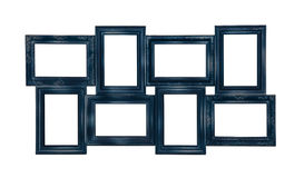 Picture photo frame of blue color Royalty Free Stock Photo