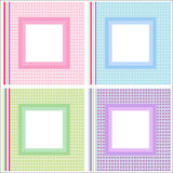 Picture / photo frames set Royalty Free Stock Image
