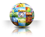 Picture Photo Gallery Ball on White Royalty Free Stock Photos