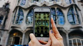 A picture of a picture of a Gaudi building Stock Images