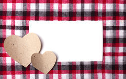 Picture of  plaid,  paper and  hearts Stock Photos
