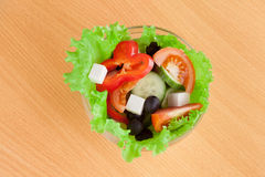 Picture of a plate with greek salad Royalty Free Stock Image