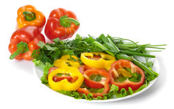 Picture of a plate of salad Royalty Free Stock Photo