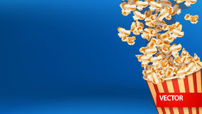 Picture of popcorn blast Royalty Free Stock Image
