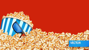 Picture of popcorn Stock Photo
