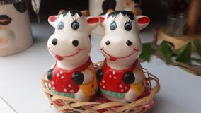 Porcelan cows. Picture of porcelan cows Stock Photo