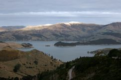 Picture from the Port Hills in New Zealand.  Stock Photography